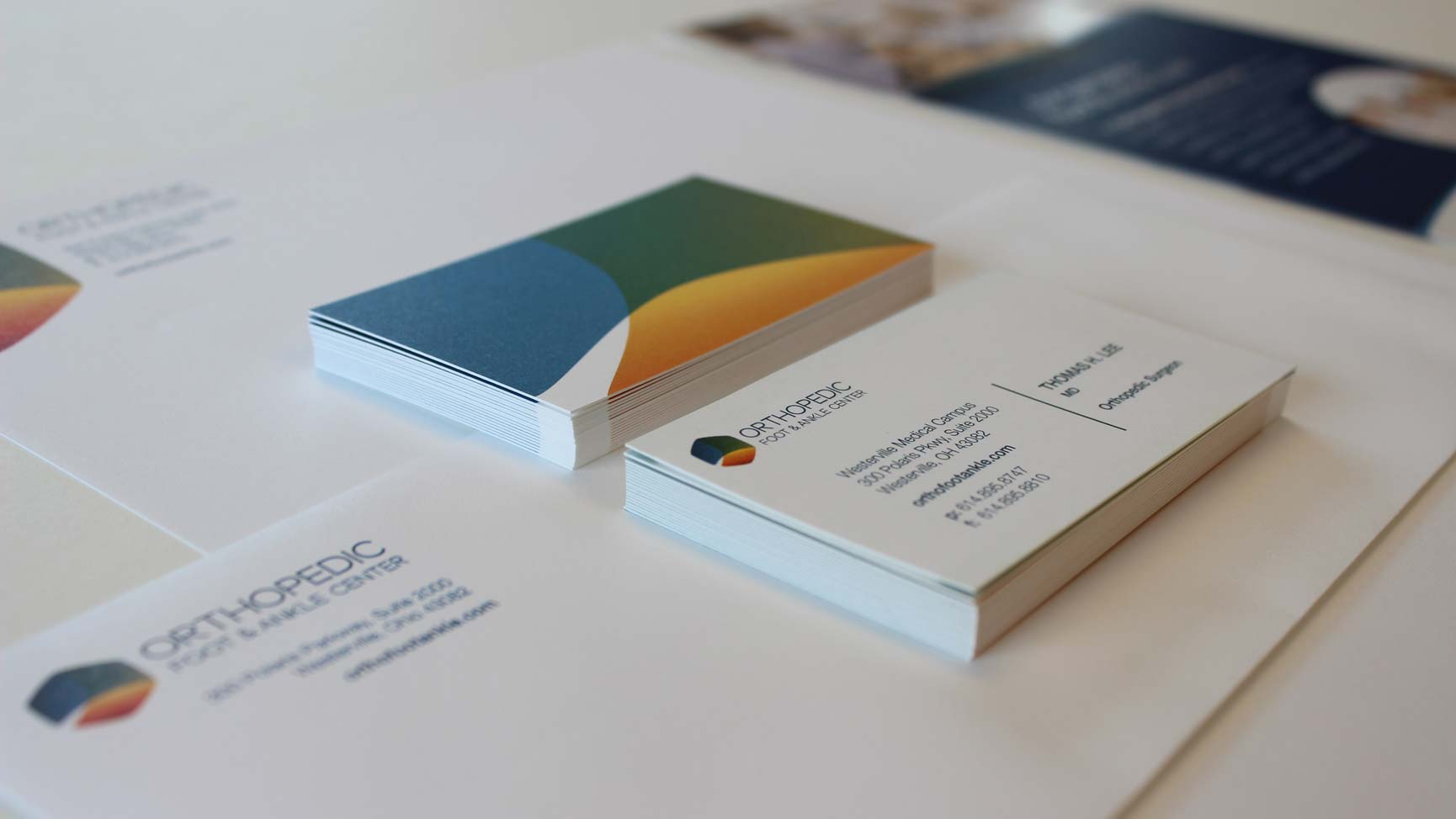 Business cards, letterhead and envelopes with the OFAC logo